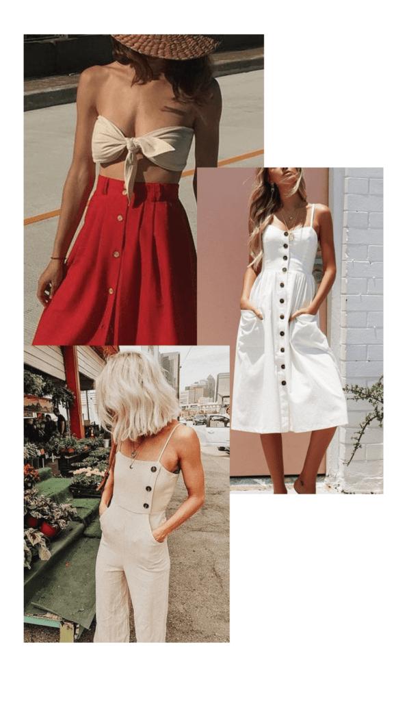 Armário da Dora Tendências Moda Verão 2019 BOTÕES
