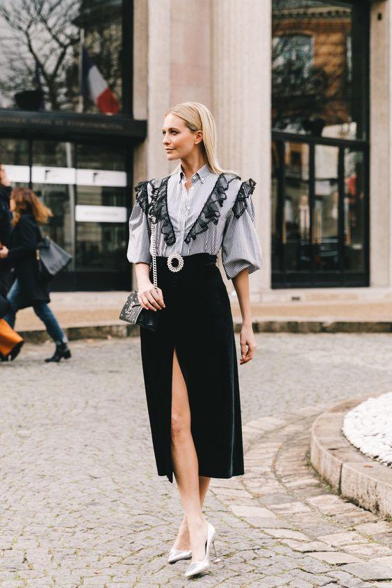 moda inverno 2019 babados