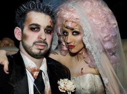 Fantasia de Halloween Noivos zumbi