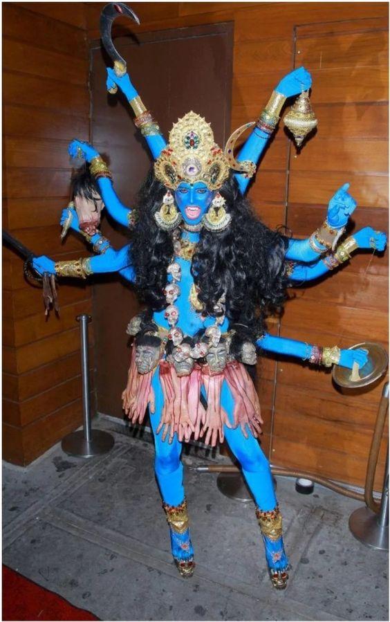 Fantasia de Halloween Deusa Kali