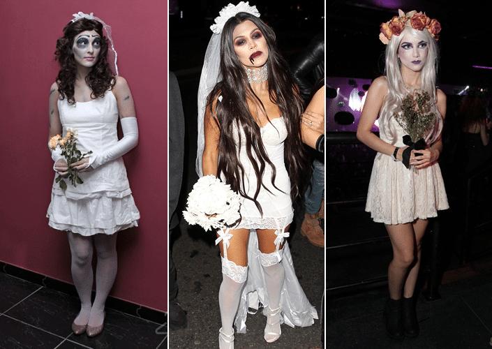 Fantasia de Halloween Noiva Zumbi
