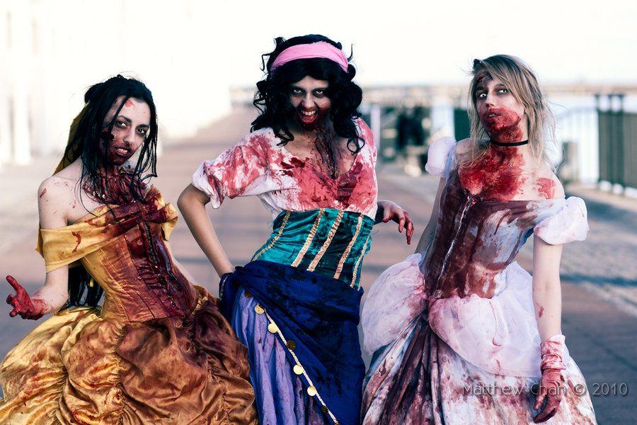 Fantasia de Halloween Princesas Zumbi