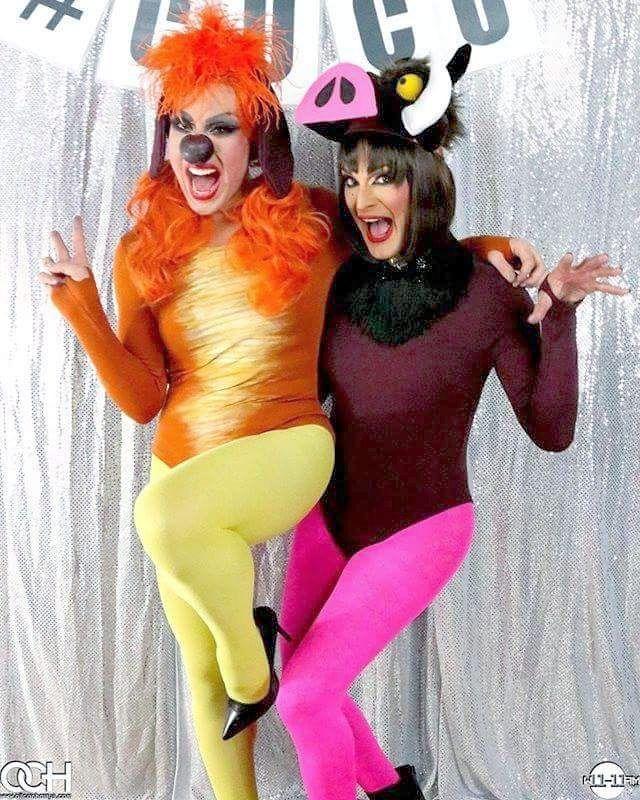 Fantasia de Hallowen Timão e Pumba