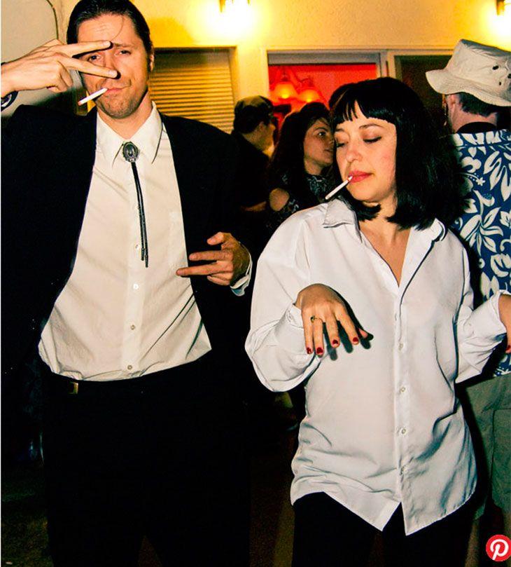 Fantasia de Halloween Vincent Vega e Mia Wallace