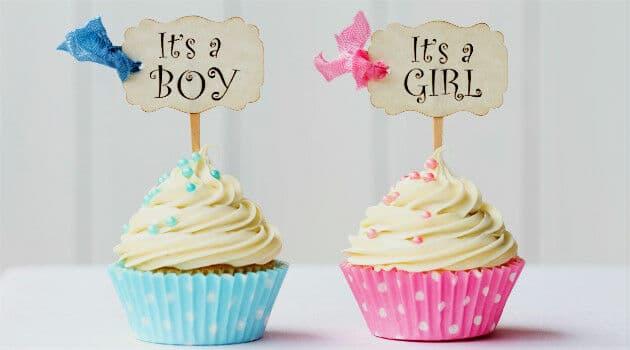 Cupcake para Chá Revelação